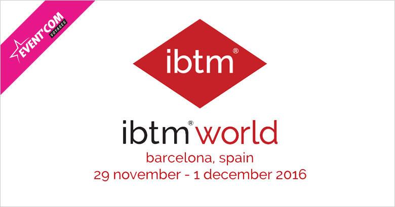 Rencontrez nous à l'IBTM World 2016