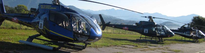 Hélico & avion privé